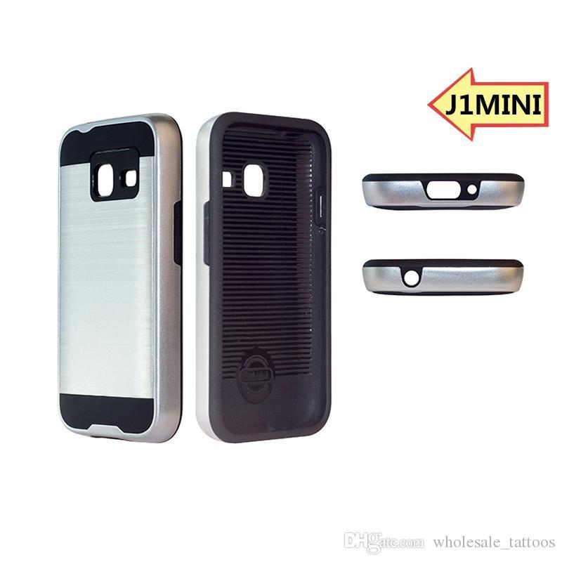 Brushed Armor Silicone Rubber Hard Phone Cover For Samsung Glaxy J1 2016 J120 J1 mini J105 J2 2016 J210 J7 Prime J5 Prime C5 C7 Z2 C8