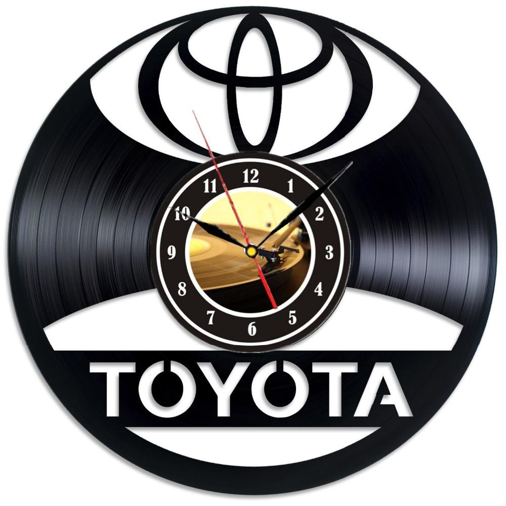 Toyota Logo Vinyl Record Wall Clock Decorate Your Home With Modern