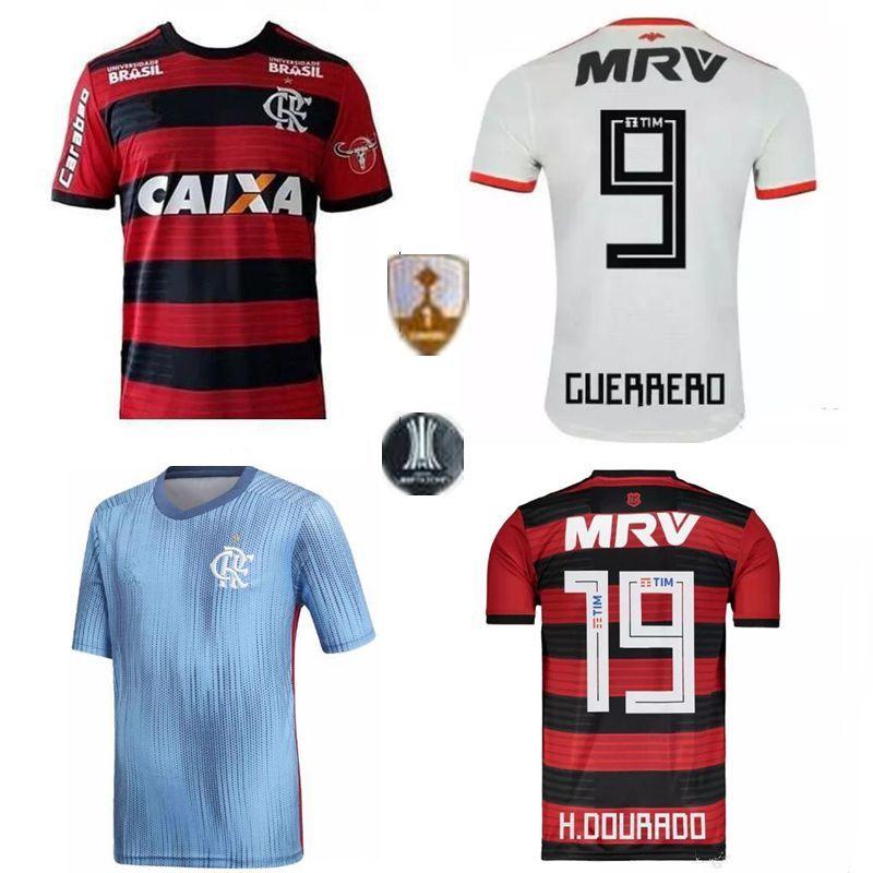 2019 Top 18 19 Flamengo Jersey 2018 2019 Flemish GUERRERO DIEGO VINICIUS JR  Soccer Jerseys Brazil Flamengo Home Black Sports Football Kids Kit Sh From  ... e48c21e82