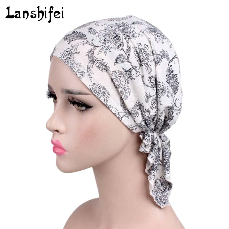 2018 New Women Floral Turban Hat India Cap Hairnet Muslims Chemo Cap Flower  Fold Beanies Chemotherapy Bonnet Hat For Ladies Cool Beanies Beanie Caps  From ... c0615ee5c33