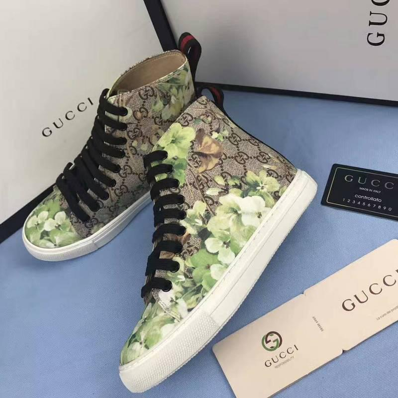 cffd6f31544c Men Leather High Top Sneaker With Bee Blooms Snake Dragon Tiger ACE BEE EMBROIDERY  WOMAN MAN SNEAKERS SPORTS SHOES Best Shoes Stacy Adams Shoes From ...