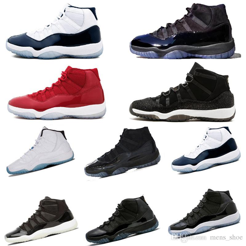6145c2ff296d Cheap Mens 11s Prom Night Mens Basketball Shoes Prm Heiress Cap And ...