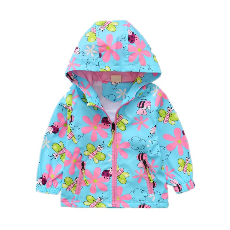d87c0e19658 Autumn Girls Coat for Baby Girl Clothes Cartoon Bees Hooded Jacket Kids  Windbreaker For Girls Toddler Outerwear Clothes