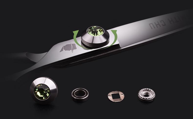 440C Paslanmaz Çelik Saç Kesme Makas Seti İnceltme Makası 6 inç Kuaförlük Kuaför aracı