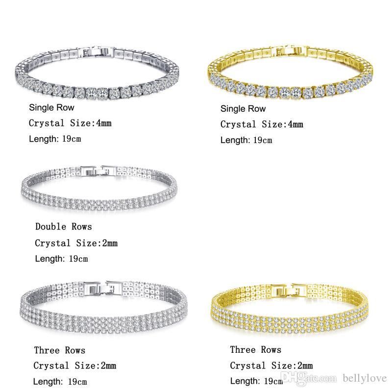 18K Белый / желтый позолоченный игристое Кубический циркон CZ Кластер теннис браслет женщин способа ювелирных изделий для партии свадьбы