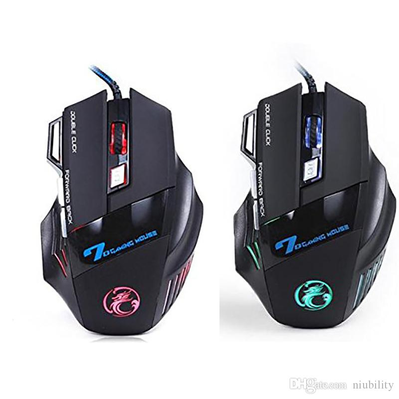 Original iMICE X7 Wired Gaming Mouse 7 Buttons 2400DPI LED Optical Wired Cable Gamer Computer Mice For PC Laptop by niubility