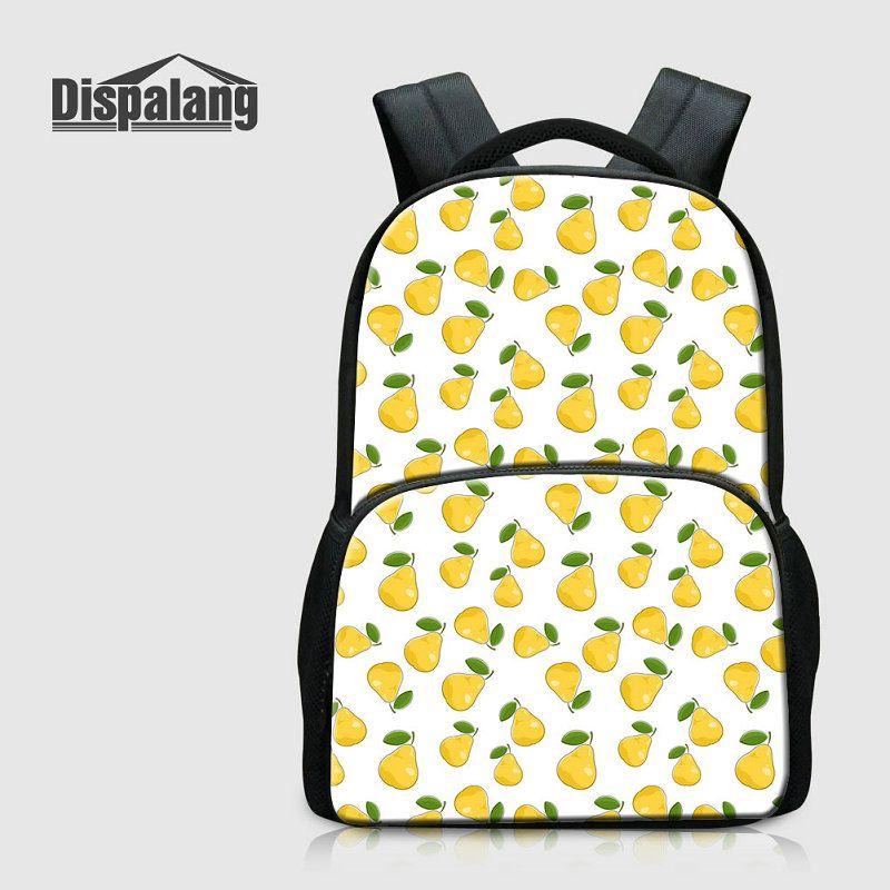 819c5244e1 Large Capacity Middle School Students Bookbags Female Travel Backpack For  Laptop Girls Casual Rucksack 3D Fruit Pattern Rugtas Women Bagpack Hobo  Bags Kids ...