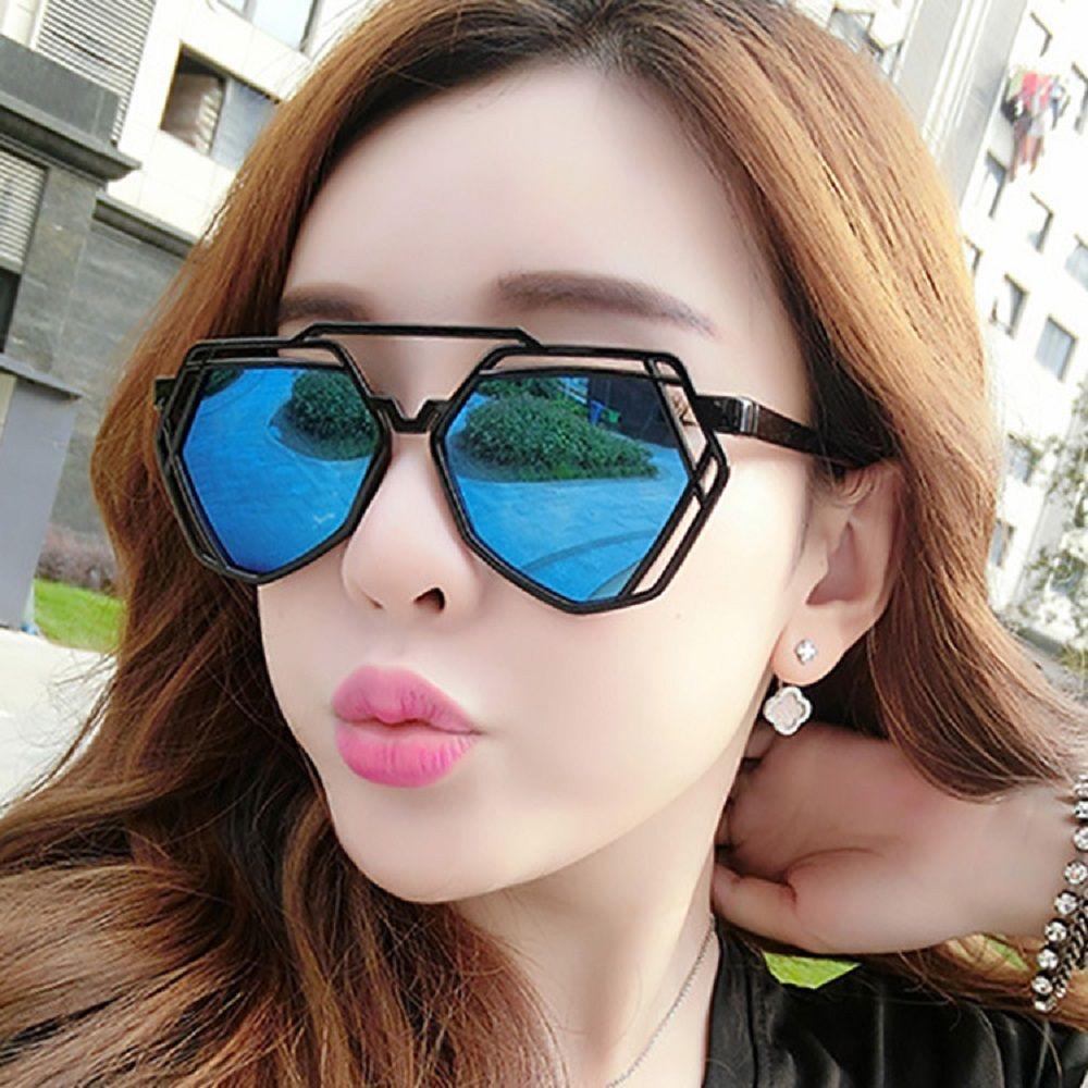 Brand Designer New Big Mirror Sunglasses Women Hexagon Lovers Hippie Ladies  Sunglasses UV400 Rose Pink Sun Glasses Womens Sunglasses Sunglasses Sale  From ... eb578b044b