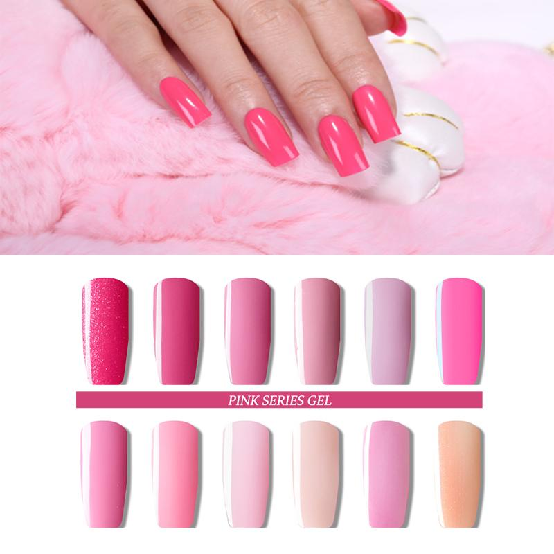 6ml Nail Gel Polish Non Toxic &Amp; Healthy Nude Pink Uv Led Gel ...