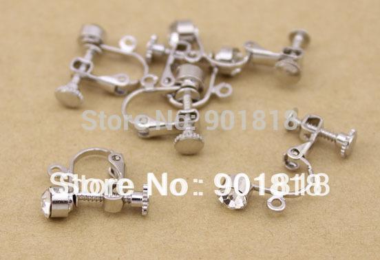 /bag fashion screw ear clip ears can no ear hole debing stud earrings Back F9