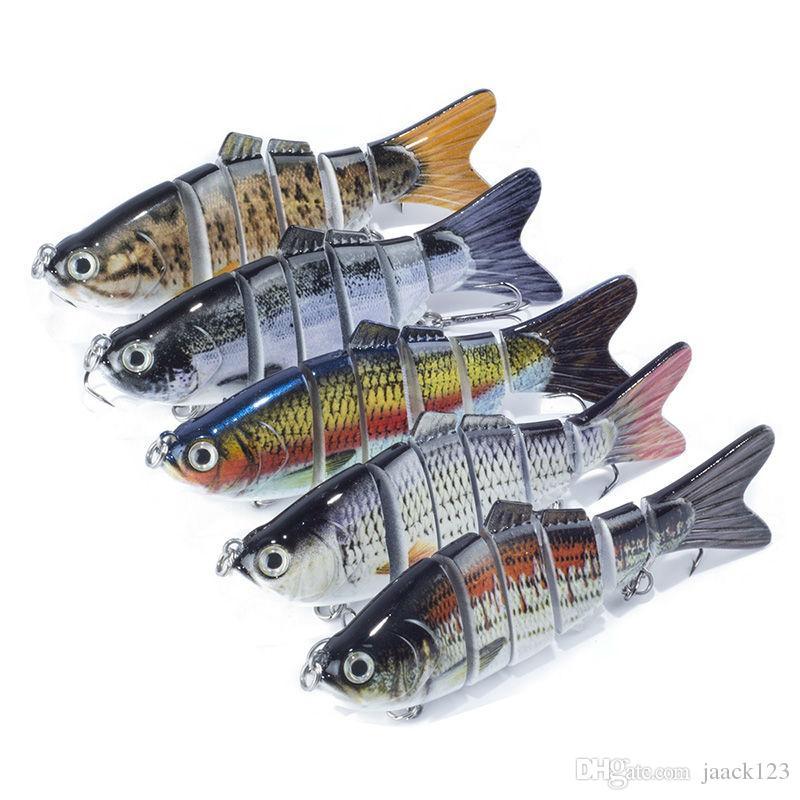 Pêche Wobbler Leurres 6 Segment Couche Complète De Natation 10cm 17.1g Isca Crankbait Artificielle Pesca Dur Appât /