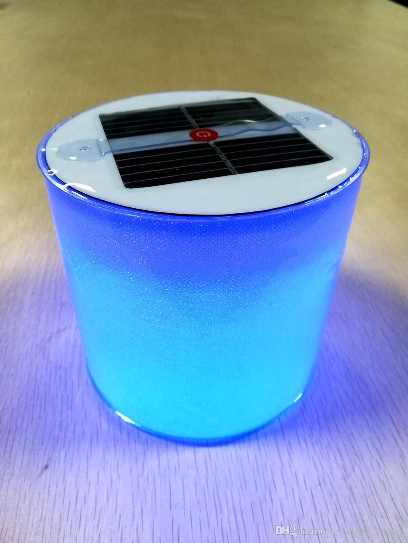Electric Solar Inflatable Light Round Shiny Pvc 10 Rgb Led