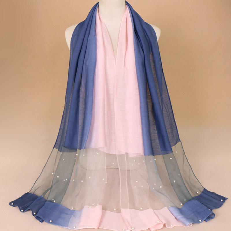 4436501bb03c Acheter Foulard Châle En Laine De Soie Ombré Avec Perle Espagne Luxe Étole  Radiant Cravate Teinture Bufandas Hijab Foulard 185   70 Cm De  14.77 Du ...