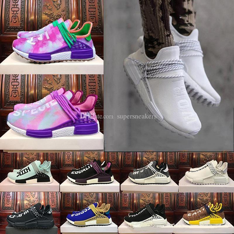 042378160b 2019 2018 Black Purple Equality Human Race Runner Shoe Respira Holi Nerd  Colette Running Shoes HU Blank Cream Williams Pharrell Sport Sneaker From  ...