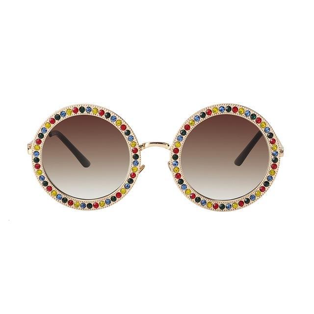 1d6c143c7f99 ROYAL GIRL 2018 Women Round Crystal Sunglasses Hot Designer Luxury  Rhinestone Sun Glasses High Quality Shades Oculos Ss970 Mens Eyeglasses  Sport Sunglasses ...
