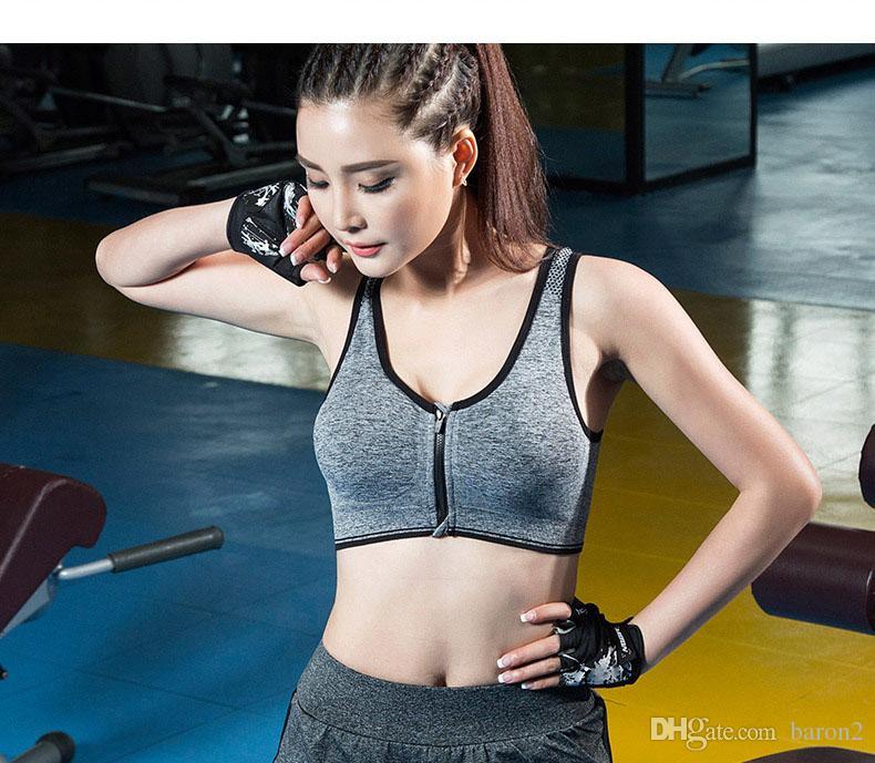 21673ae32 Compre Barras De Esporte Para As Mulheres Yoga Sutiã Acolchoado Camisas  Colete Respirável Correndo Aptidão Ginásio Esportes ROSA Aptidão Roupa  Interior Das ...