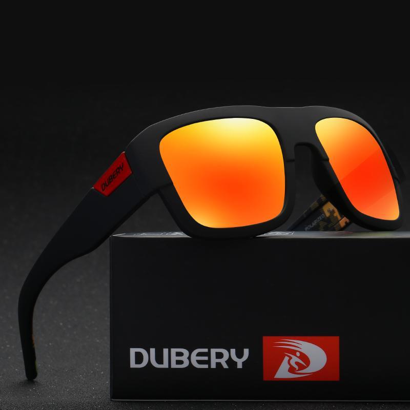 da3d71fe2 Compre DUBERY Espelho Polarizada Óculos De Sol Dos Homens Quadrados Esporte  Óculos De Sol Para Homens Mulheres De Alta Qualidade 2017 Designer De Marca  De ...