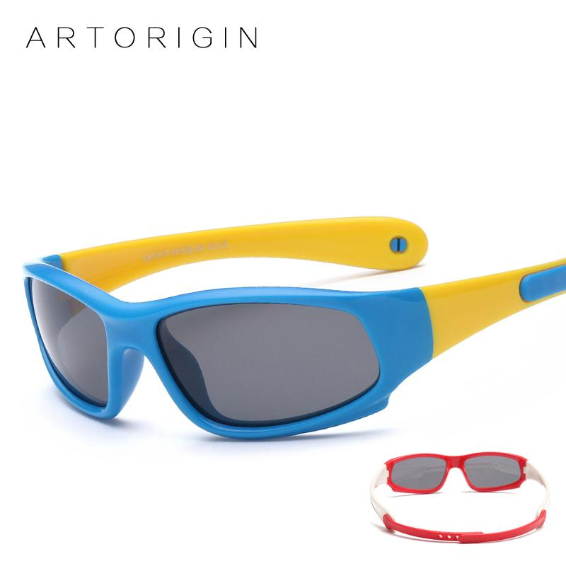 9e34538128e 2019 ARTORIGIN Kids Sunglasses Boys Girls Polarized Sun Glasses Rubber Flexible  Children Goggles Safety Eyewear Approximately 1 5 Y From Henryk