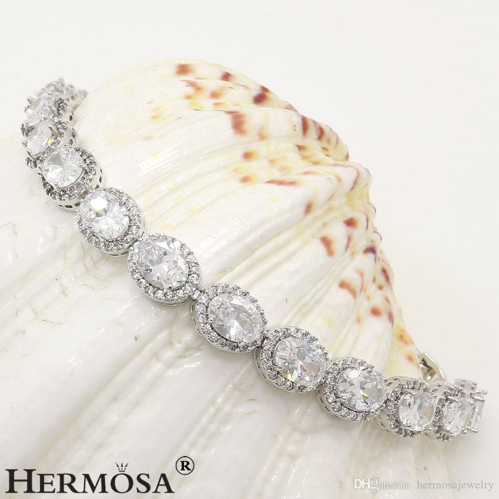 925 Sterling Silver Natural Black Onyx Charm Topaz Tennis Links Bracelets Sparkle Best Quality Christmas Gifts