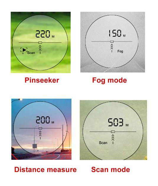 Pinsensor 650Yard özellikli Golf Rangefinder