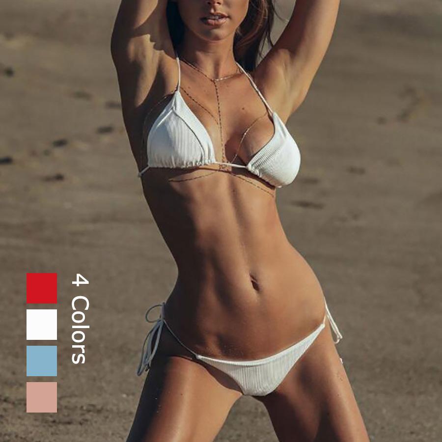 4660b64e0570c 2019 Sexy Splicing Bikinis Women Thong Swimwear 2018 Triangle Push Up Micro Bikini  Set Swimsuit Beach Bathing Suit Brazilian Biquini From Swimwear2016