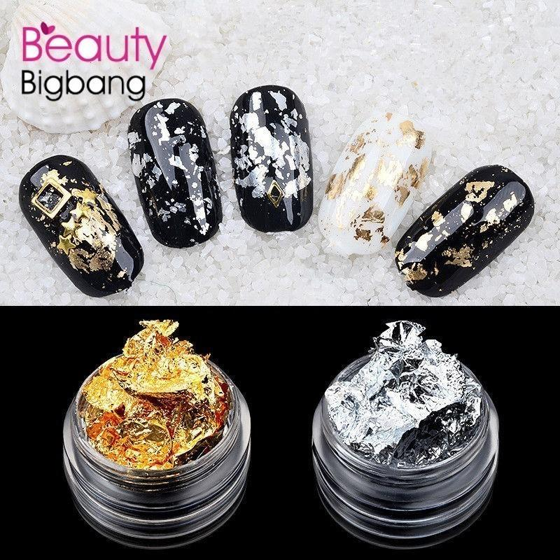 12 Box Gold Silver Copper Nail Art Polish Glitter Foil Paillette ...