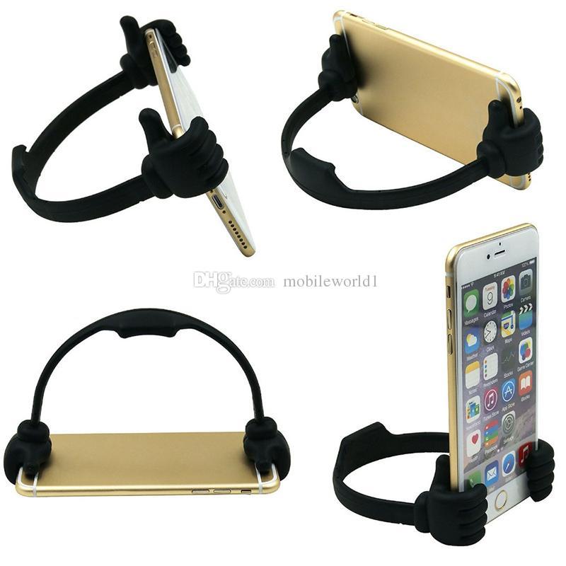 Lazy Handy Daumen Halter OK Halterung Handy Zubehör Halterungen Schreibtisch Unterstützung für Handy-Pad iPhone Sumsang
