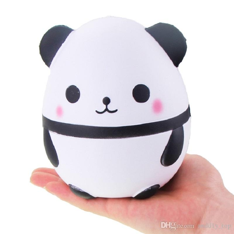 Panda egg Squishy Jumbo Cute Panda Kawaii Cream Scented Kids Toys Doll Gift Fun Collection Stress Relief Toy Hop Props