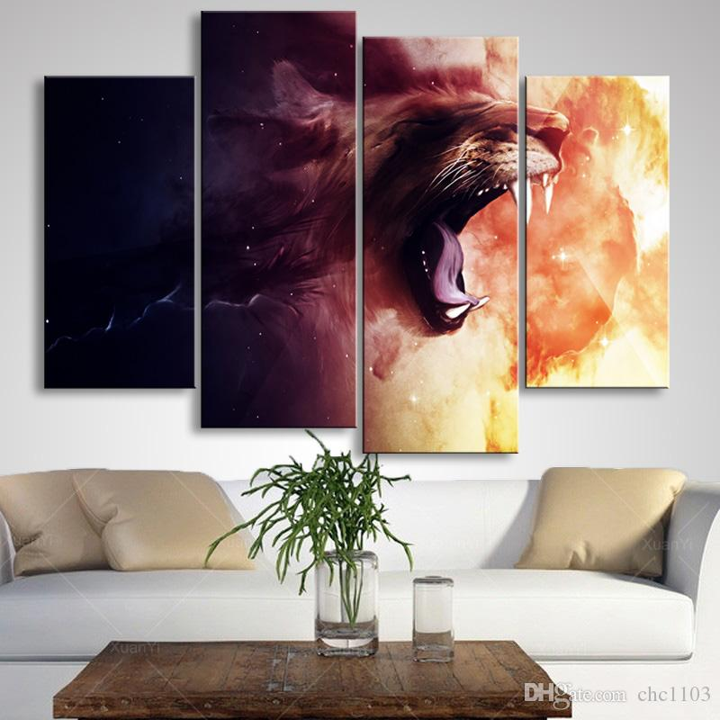 painting & calligraphy print lion canvas poster wall art living room restaurant Bedroom Decorative paintings SZ4-006