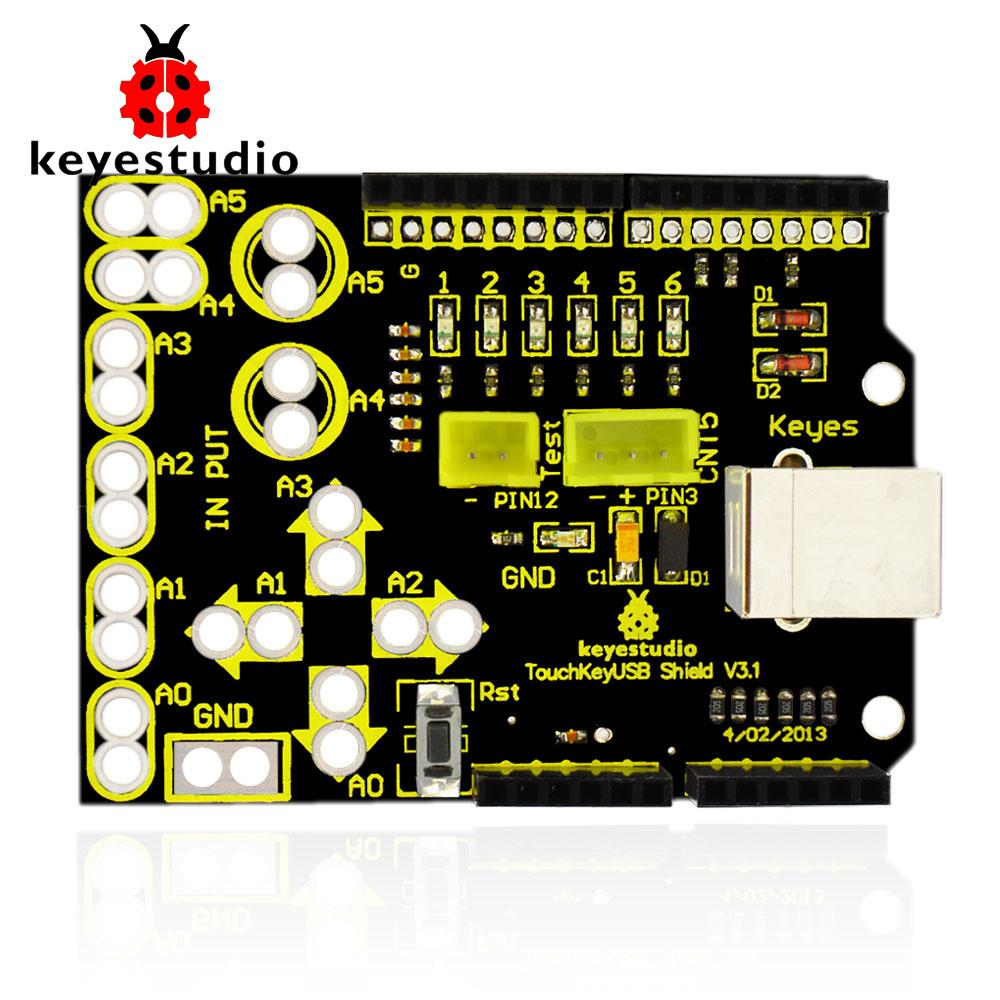 Free shipping !New Keyestudio Touch Key USB Shield V3 1 Analog Touch Keypad  for Arduino UNOR3
