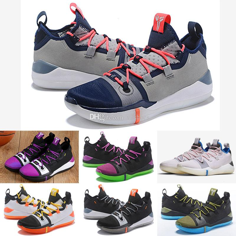 5460c37b90bd 2018 Kobe A.D. Mamba Day EP Sail Multi Color Mens Basketball Shoes AV3556  100 Kobe Bryant Sports Sneakers Athletic Basket Ball Size 7 12 Athletic  Shoes ...