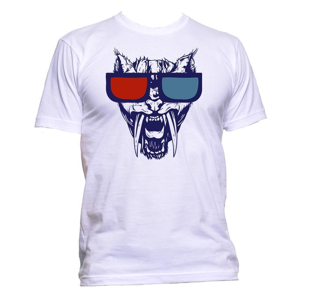 Tiger Glasses 3d Dimension T Shirt Mens Womens Unisex Fashion Slogan