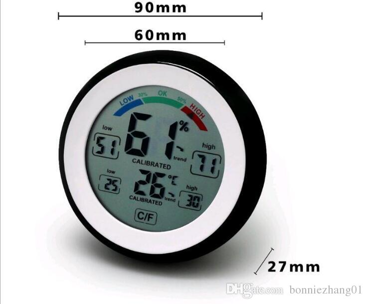 التي مجاني من قبل FEDEX DHL ميزان الحرارة الرقمي الرطوبة درجة الحرارة الرطوبة متر ماكس مين القيمة تريند العرض