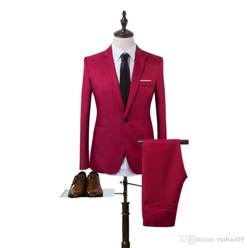 Famous Brand Mens Suits Wedding Groom Plus Size 3XL Jacket+Pant Slim Fit  Casual Tuxedo Suit Male UK 2019 From Ruibao09 3373fe35e043