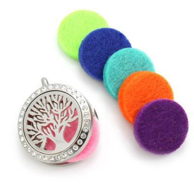 Круглый войлок колодки красочные 22 мм масло колодки для 30 мм или 17 мм масло колодки для 25 мм духи медальон эфирное масло диффузор медальон аксессуары 17 цветов