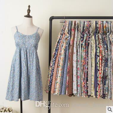 9ba2cc8fdb Women Dresses 2018 Summer Sleeveless Ruffle Polka Dot Floral Dress Cotton  Sundress Floral Sling Dress For Girls Clothes Young Lady Women Dresses  Dresses ...