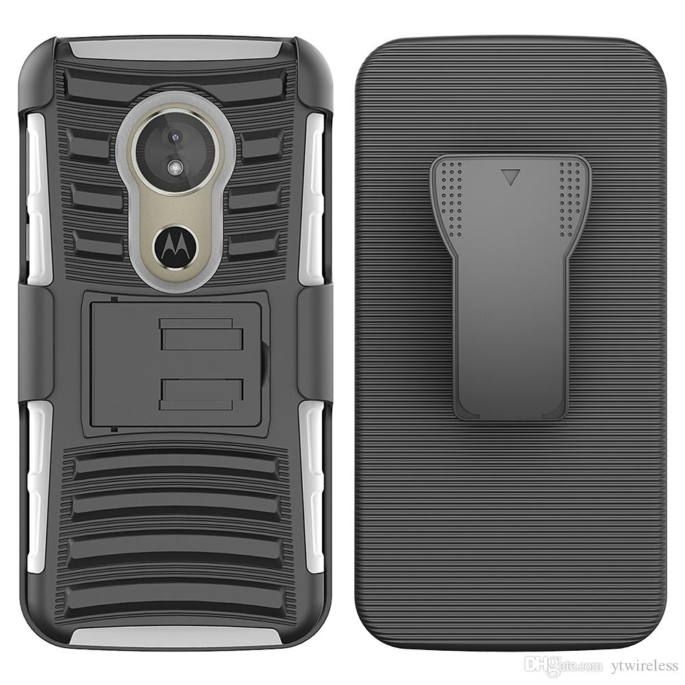f7fce6759 Accesorios Telefonia Movil Para Motorola E4 Plus Moto C G5 Plus Moto  MXT1662 Z Force Droid Edition Funda Combo Holster Belt Clip Kickstand  Defender Armor ...