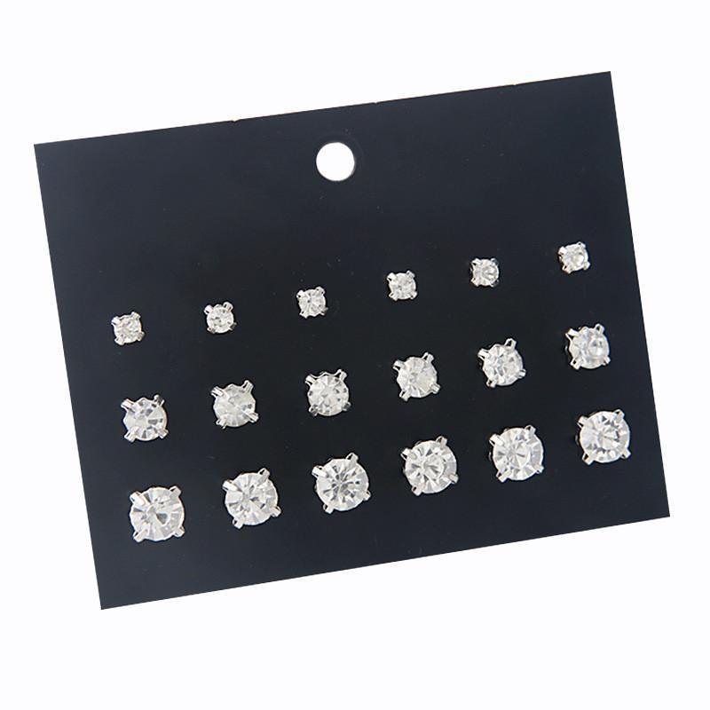 korean style rhinestone zirconia stud earring fashion women austrian crystal gold stud earrings lady girls earings snap jewelry