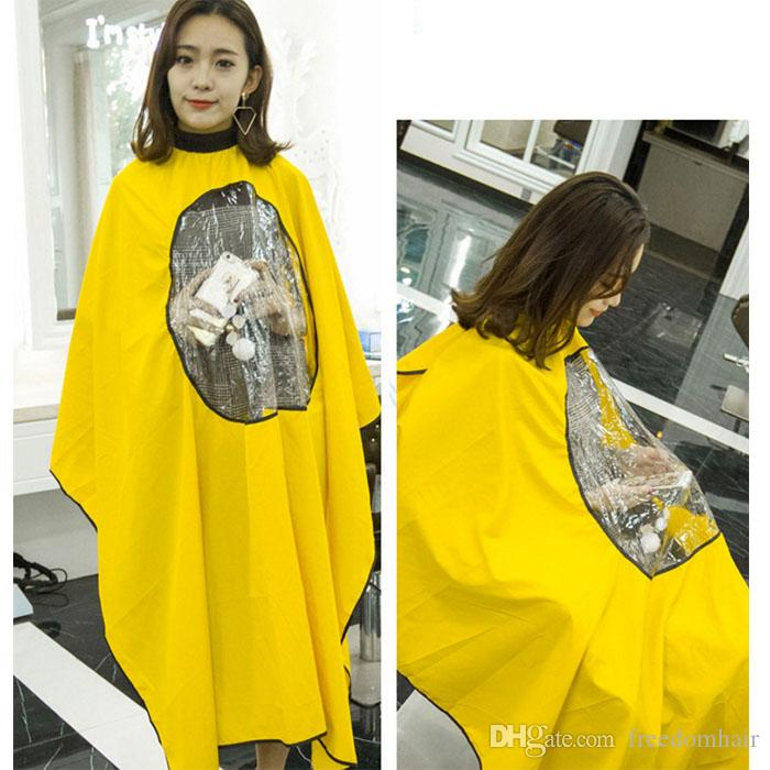 Professional Salon Hairdresser Hair Cutting Hairdressing Cloth with Viewing Window Barber cape Gown Wrap Hair cutting stylist Cape Shampoo