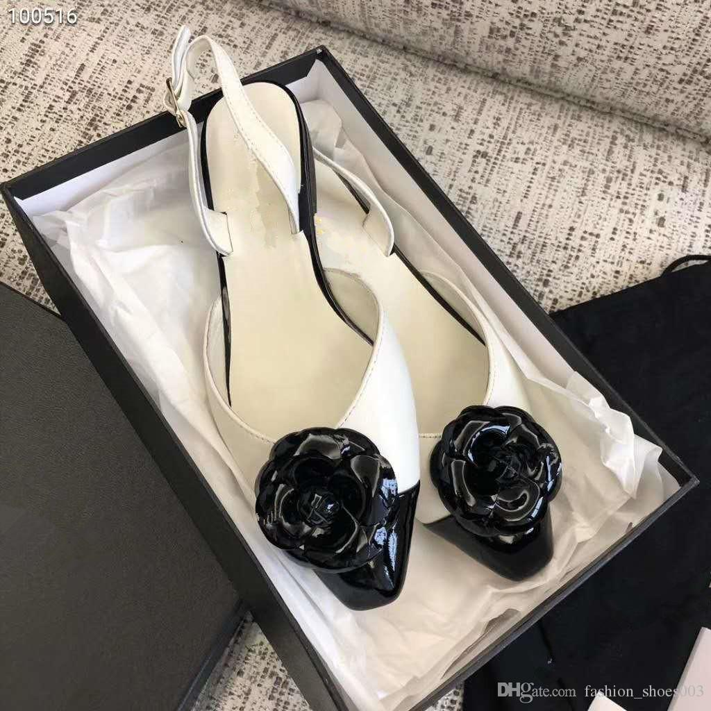 2018 Women White Flowers Fashion Summer Sandals Famous Luxury Brand