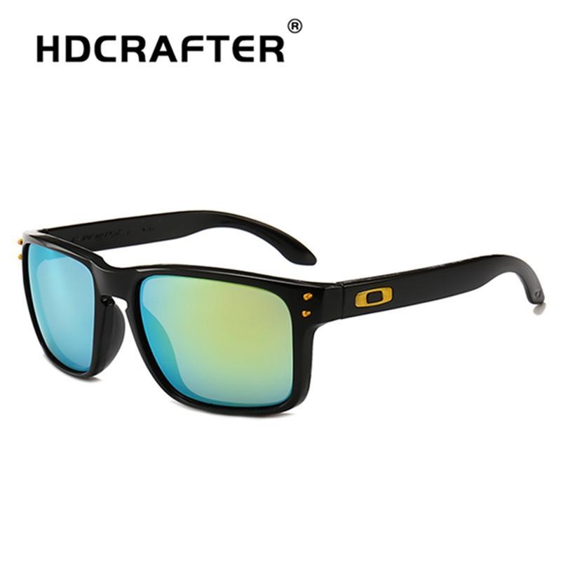 Compre HDCRAFTER Quadrado Moda Óculos De Sol Dos Homens Óculos De Sol Dos  Homens De Condução Espelhos Pontos De Revestimento Moldura Preta Óculos  Masculino ... 464936aea7