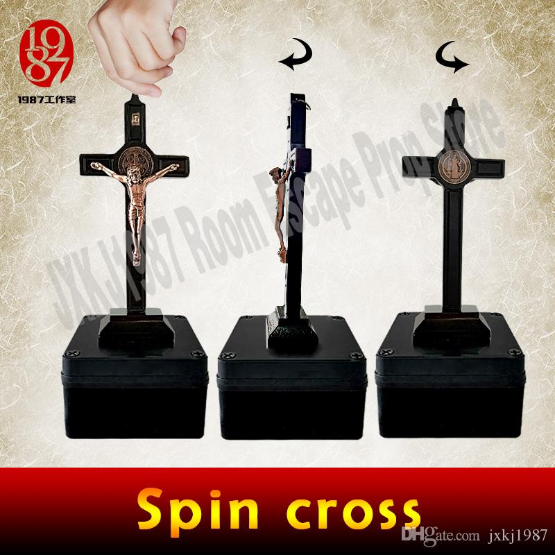 Escape game prop spin cross prop room escape adventure game spin decorative  spin cross to unlock from JXKJ1987 Amazing device