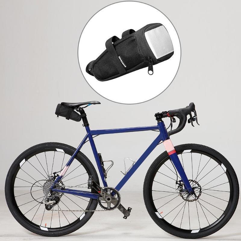 3d974b96f61 Compre Nuevo Tipo De Correas Tipo De Fijación 1.2L Bolsa De Sillín De Bicicleta  MTB Bike Rear Bag Ciclismo Asiento Trasero Tail Grandes Accesorios De ...
