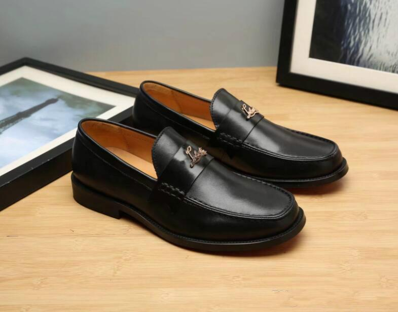 Luxury Men Dress Wedding Shoes Fashion Buckle Business Real Leather ... 9cffa57412a6