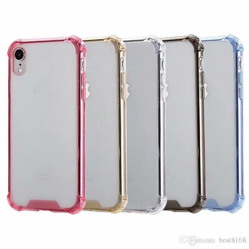 2b14a1bc7 Compre Plástico Rígido À Prova De Choque + Tpu Macio Case Para Iphone Xr  6.1 X Xs 5.8 Max 6.5 10 8 7 Galaxy Note 9 Note9 S9 Acrílico Híbrido Dual  Cor ...
