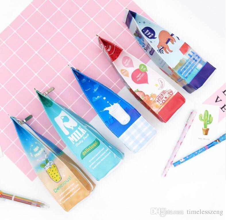 5 Style Étudiant Crayon Sac Mignon Grande Capacité Creative Crayon Case Kawaii Papeterie Sac Stylo Sac Beau Cadeau Pour Enfants