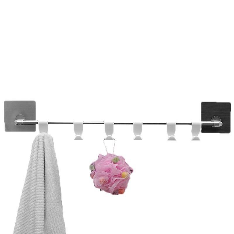 2018 Non Trace Detachable Bathroom Rails Towel Hooks Wall Mounted ...