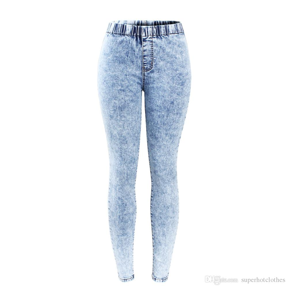 0d91c99bd2f65 New Plus Size Ultra Stretchy Acid Washed Jeans Woman Denim Pants Trousers  For Women Pencil Skinny Jeans Online with  34.74 Piece on Superhotclothes s  Store ...