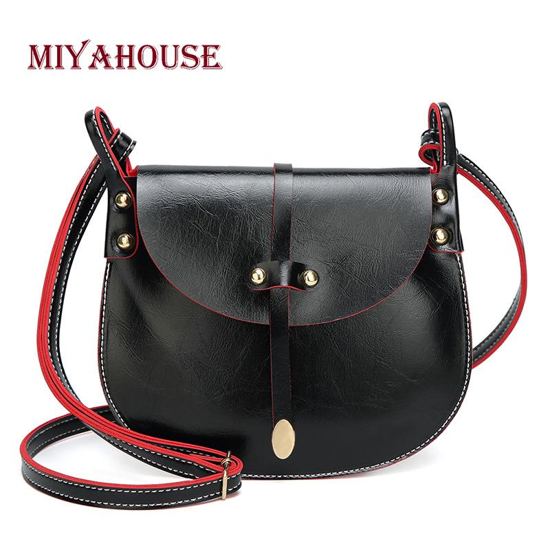 Miyahouse Simple Solid Black Color Woman Shoulder Bag High Quality PU  Leather Lady Crossbody Bag Minimalist Style Messenger Fashion Bags Designer  Handbags ... 14ddf667f95f8