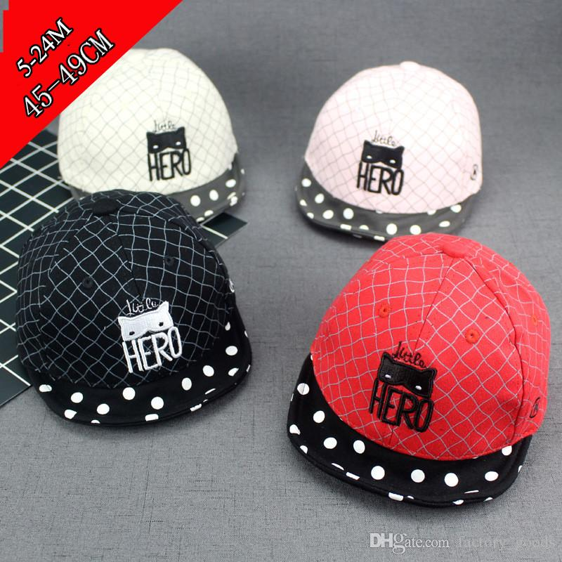 b85f8df8f9ee8 Acquista Baby Beanie Hats Newborn Berretto Con Visiera Toddler Infant Skull Hat  Bambini Ragazzi Ragazze Spring Travel Outdoor Cotton Baseball Caps DHL 399  A ...